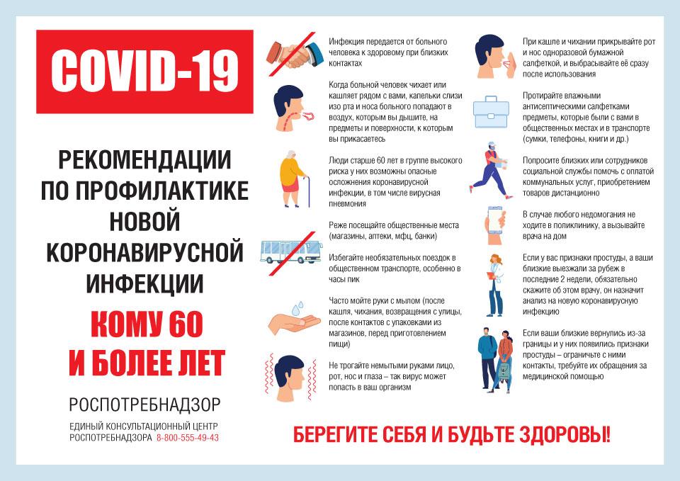 рекомендации по профилактике новой коронавирусной инфекции для тех, кому 60 и более лет